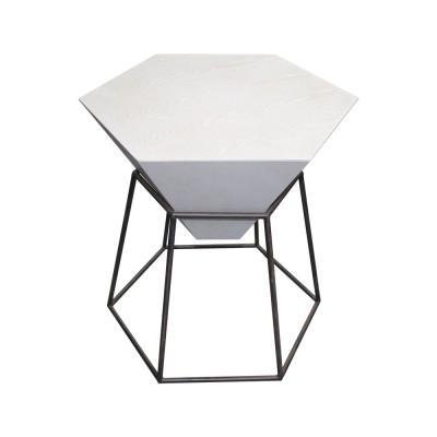 TABLE HEXAGONE EN FER &...