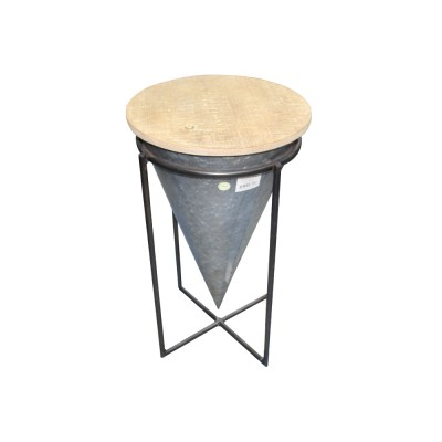 TABLE RONDE EN BOIS PIED METAL
