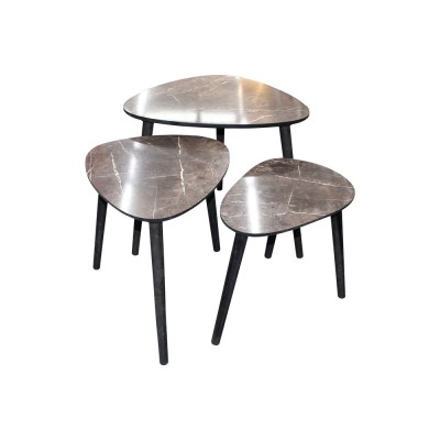ENSEMBLE TABLE OVAL 3 PCS...
