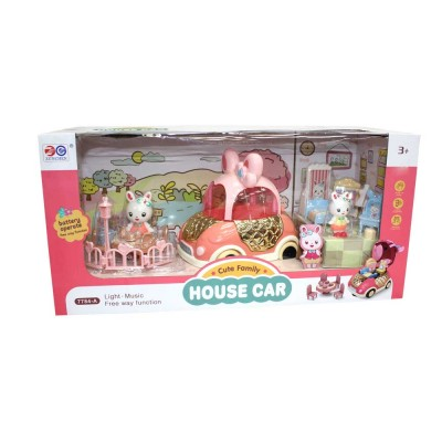 HOUSE CAR CUTE FAMILY