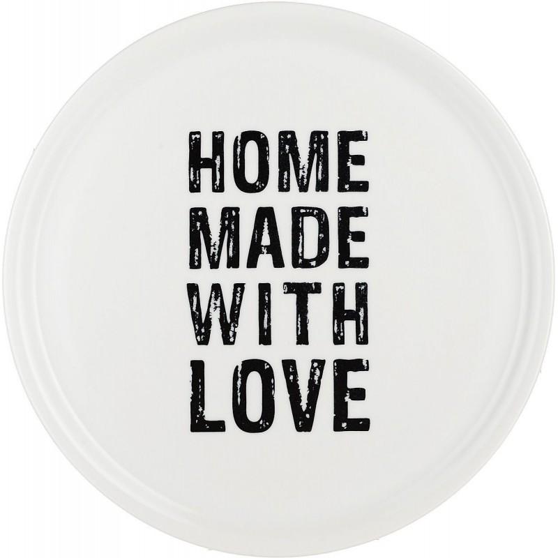 ASSIETTE À PIZZA EN PORCELAINE - HOME MADE WITH LOVE